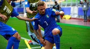 Dimarco, da Inter, está nos planos do Bolonha. EFE