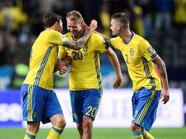 A Suécia, por exemplo, ainda está na luta por um lugar no Mundial'2018. EFE/EPA/Marcus Ericsson