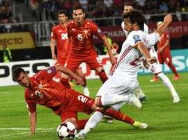 A Espanha venceu a Macedônia por duas bolas a uma. EFE