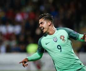 Andre Silva scored the only goal of the game against Hungary. EFE/EPA/Archivo