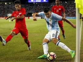 O canhoto fez um bom jogo frente à Venezuela. EFE