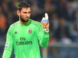Le gardien de l'AC Milan, Gianluigi Donnarumma. EFE