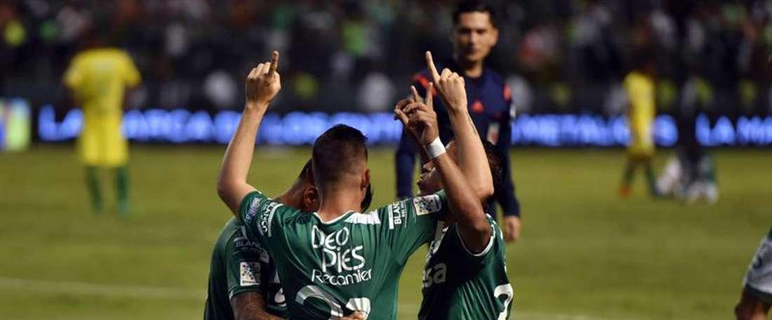 Deportivo Cali venció por 2-1 a Leones. EFE/Archivo