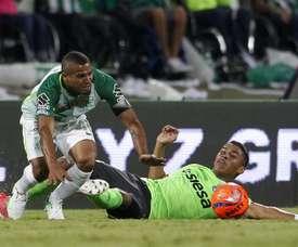 El conjunto 'verdolaga', eliminado de la Copa Águila. EFE