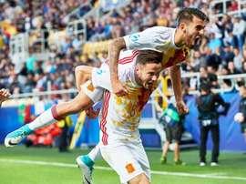 España se llevó el partido con ciertos apuros ante Portugal. EFE
