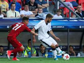 Berardi anotó el único gol de Italia ante la República Checa. EFE