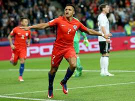 Alexis Sanchez scored his 38th goal for Chile- All-time-record. AFP