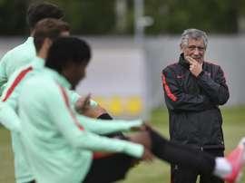 O tema do mercado foi comentado pelo técnico da Seleção portuguesa. EFE/Mario Cruz