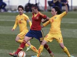Jenni Hermoso es la principal baza del ataque español. EFE/Archivo