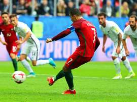 Cristiano Ronaldo scored his 75th goal for Portugal from the spot. AFP
