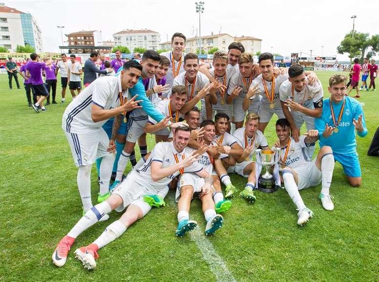 El conjunto blanco se llevó la Copa del Rey Juvenil en la prórroga. EFE