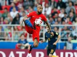 O Chile empatou com a Austrália em Moscovo. EFE