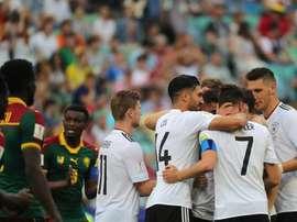Festa foi dos alemães, na Rússia. EFE