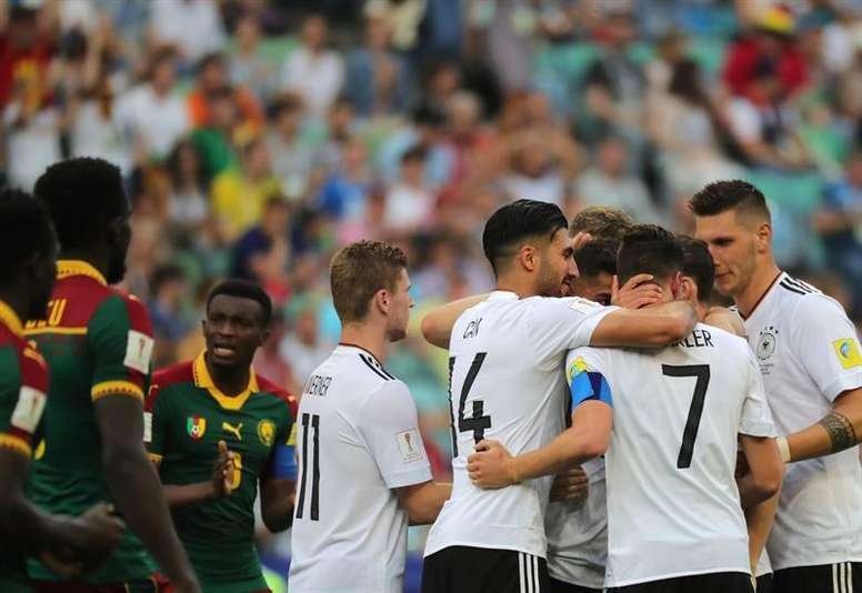Alemania se llevó el triunfo y pasa como primera de grupo a las 'semis'. AFP