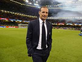 Allegri is hoping the players can help push his team to Champions League success. EFE