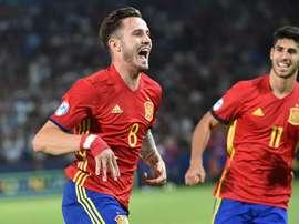 Saul Ñiguez et Marco Asensio lors du match de l'Euro U21. EFE
