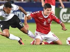 El delantero de la selección alemana Davie Selke mejoró notablemente. EFE