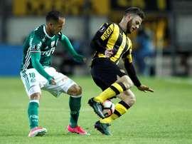 Alejandro Guerra, de Palmeiras, ha destacado en esta jornada en el Brasileirao. EFE/Archivo