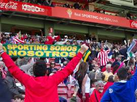 El Sporting ha dado un rapapolvo al Racing de Ferrol. EFE/Archivo