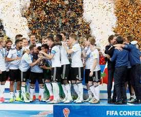 Alemania quiere acabar con el gafe de la Copa Confederaciones. EFE/AFP