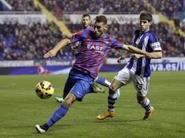 Iván López se lesionó en el encuentro ante el Real Madrid. EFE/Archivo