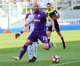 Valero despediu-se da Fiorentina. EFE