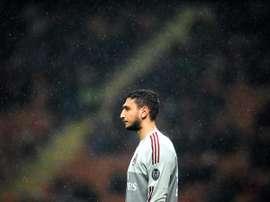 Donnarumma pode abandonar o Milan. EFE