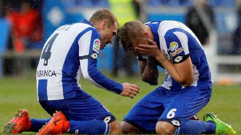 El gallego ha vuelto a Coruña tras un año cedido en el Sporting. EFE/Archivo