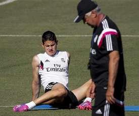 Le coach aimerait retrouver sous ses ordres James. AFP