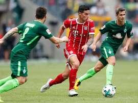 James a fait ses débuts avec le Bayern. EFE