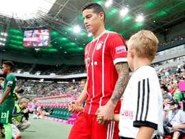 James a fait ses débuts avec le Bayern. AFP