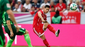 Ancelotti elogió a James tras su debut con el Bayern. EFE