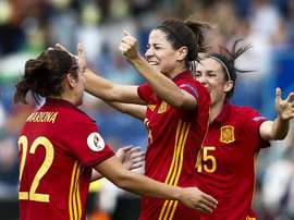 Vicky Losada scored in the first half against Portugal. EFE