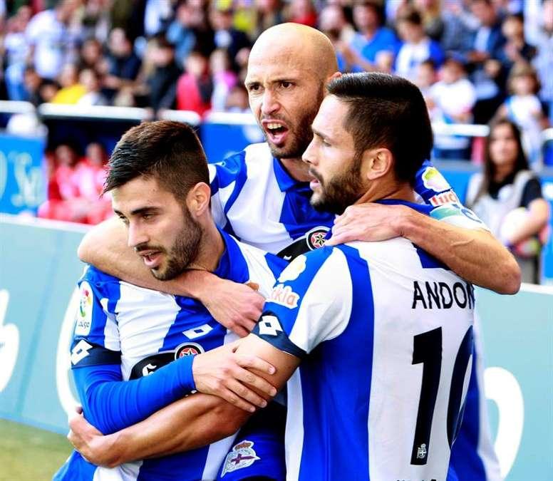 Goleada del Deportivo. EFE