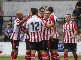 El Athletic será el invitado por el centenario del Santutxu. EFE