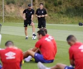 El centrocampista viajará a Reino Unido para unirse a sus compañeros. EFE/archivo