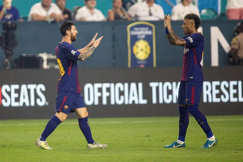 Messi quería a Neymar en Barcelona. EFE