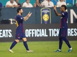 Neymar lançou elogios a seu ex-companheiro Leo Messi. EFE