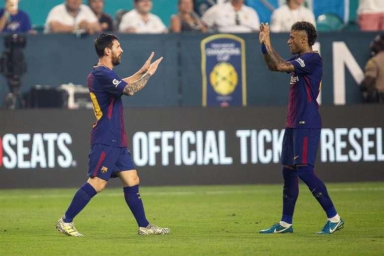 Leo Messi cree que Neymar está arrepentido. EFE
