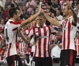 Os bascos venceram por 2-3 no play-off de acesso à Europa League. EFE
