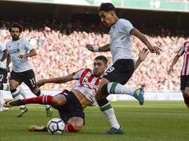 El Athletic perdió con su segunda unidad ante el Liverpool. EFE