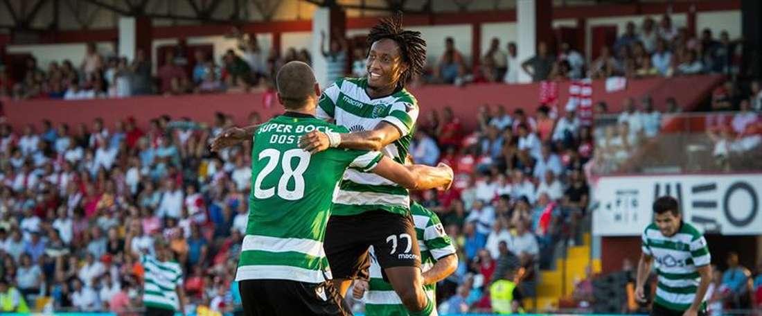 O Sporting CP bateu o Paços de Ferreira por 1-2. EFE