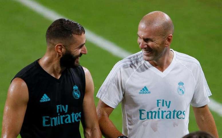 Benzema habló de su buena relación con Zidane. EFE