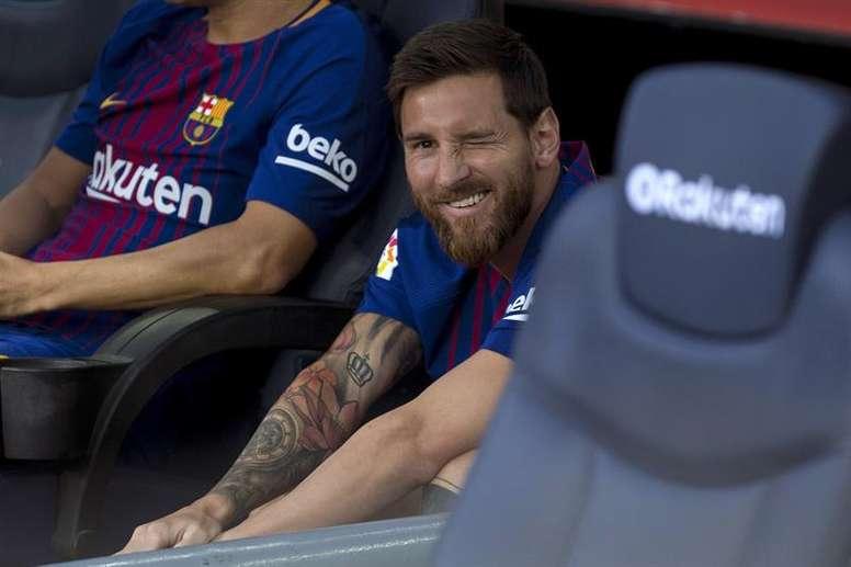 Messi brille par son absence. EFE