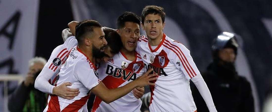 River Plate venció por 4-1 a Instituto. EFE
