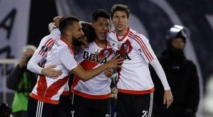 El partido entre River Plate y San Martín de Buzarco terminó suspendiéndose. EFE