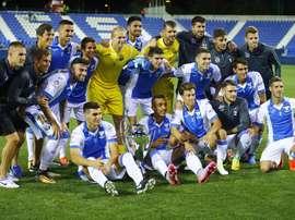 El Laganés derrotó por 1-3 al Guadalajara. EFE/J.P.Gandul