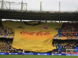 Des supporters colombiens au stade Metropolitano Roberto Meléndez, Barranquilla. EFE