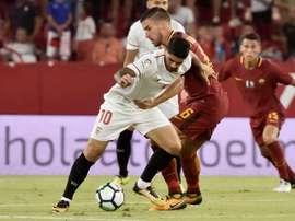 El Sevilla espera sumar una Europa League más a sus vitrinas. EFE