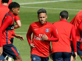 Neymar could make his debut against Guingamp on Sunday. EFE
